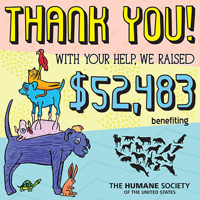 Buffalo Exchange's annual Earth Day $1 Sale raised $52,483 for The Humane Society of the United States with your help in 2017!